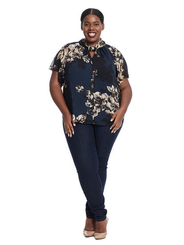 Floral Knot Front Top