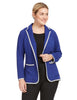 Colorblock Blazer With Front Pockets