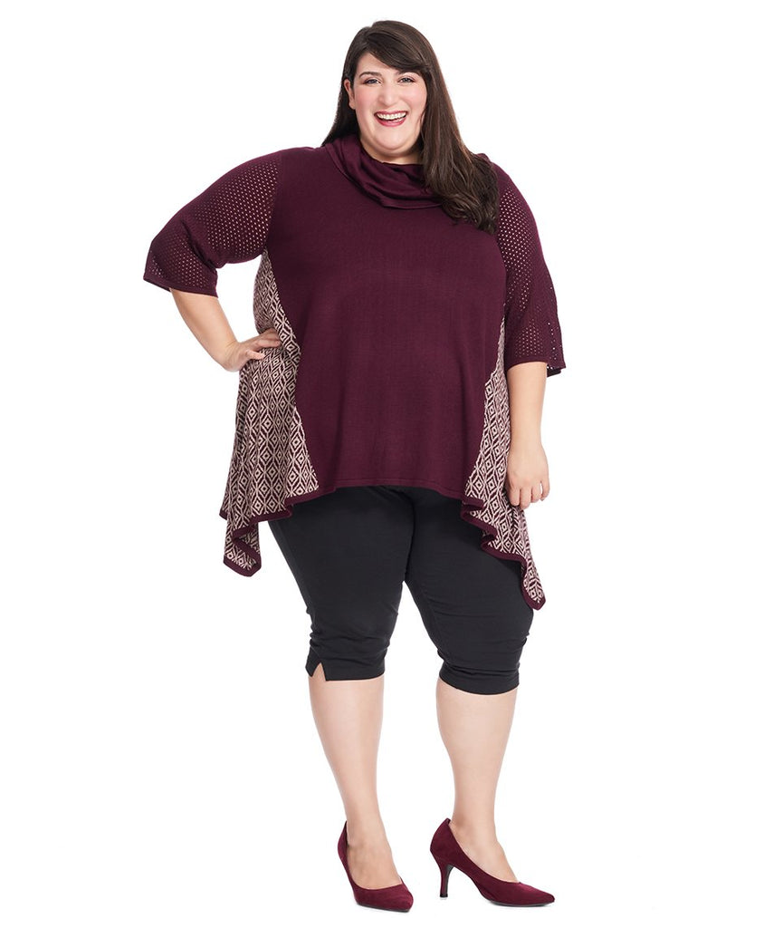 Tate Pullover In Elderberry
