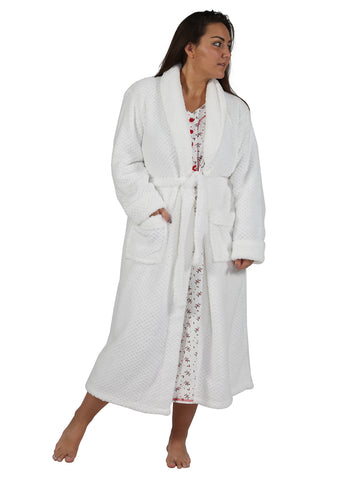 Honeycomb Fleece Wrap Robe