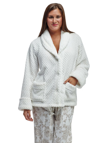 Honeycomb Fleece Bedjacket