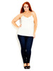 Gather Front Cami- White
