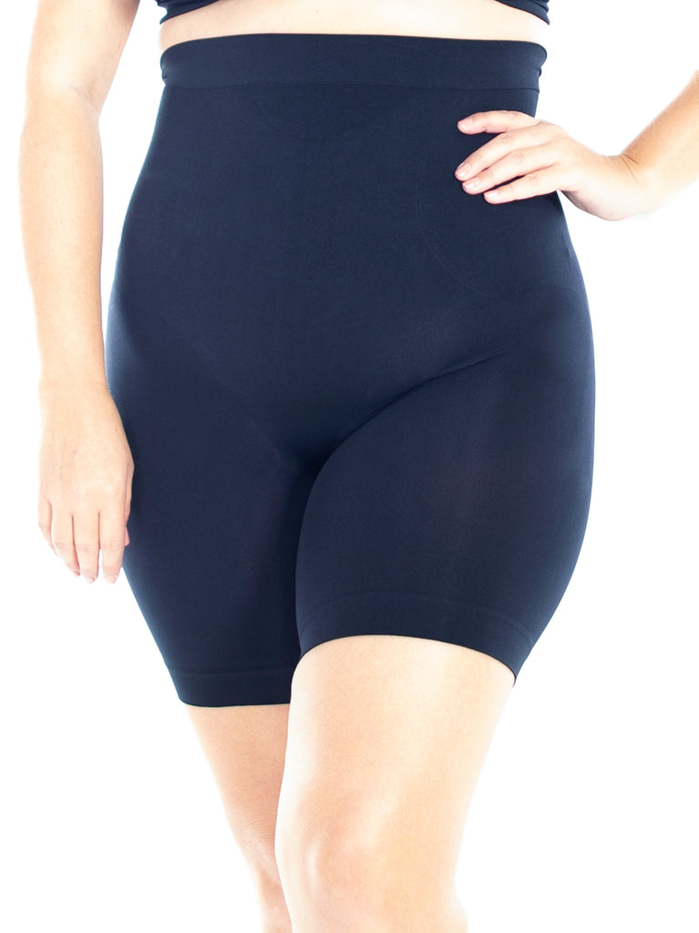 High Waist Smoothing Longline In Black