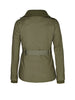 Rib Trim Utility Jacket in Khaki