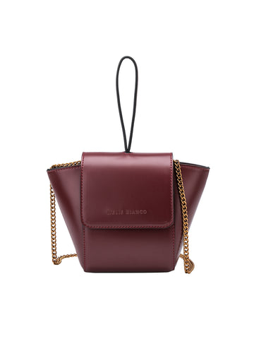 Adele Cross Body Bag In Burgundy