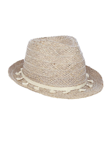 Dina Fedora In Storm And Off White