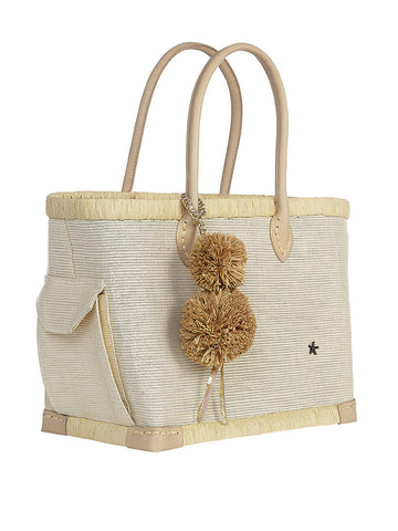 Lido Small Tote In White