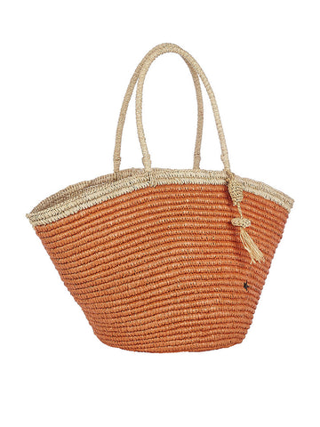 Montanita Tote In Salmon And Natural