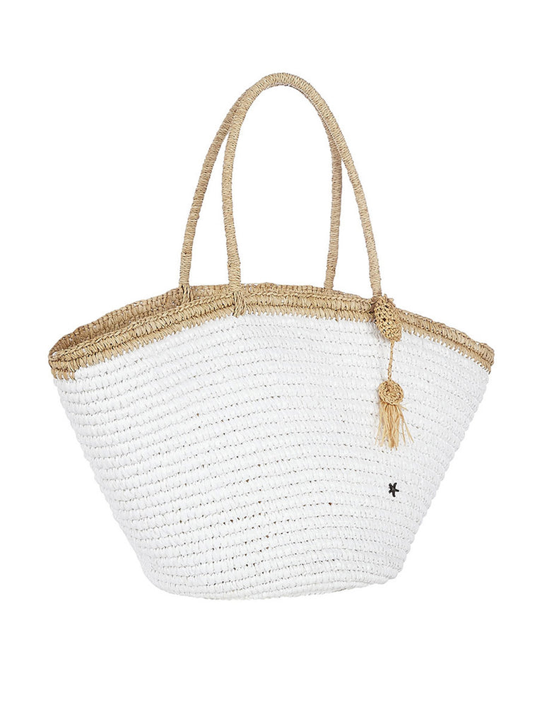 Montanita Tote In White And Natural