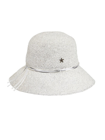 Rayne Sunhat In Bleach And Silver