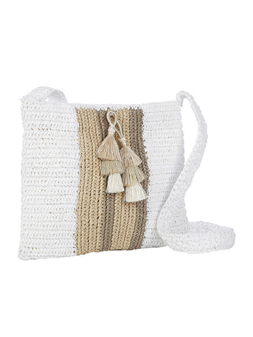 Salento Crossbody In White And Birch