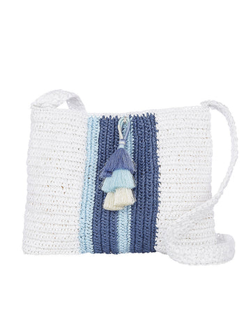Salento Crossbody In White And Mistique