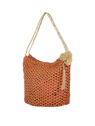 Tayrona Handbag In Salmon And Natural