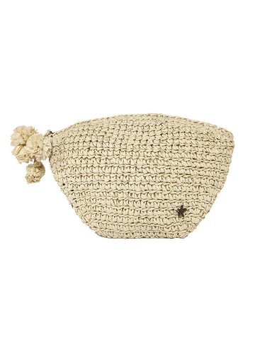 Zunni Clutch In Natural And Silver