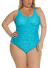 Tapestry Dream Scoop Neck One Piece In Seafoam