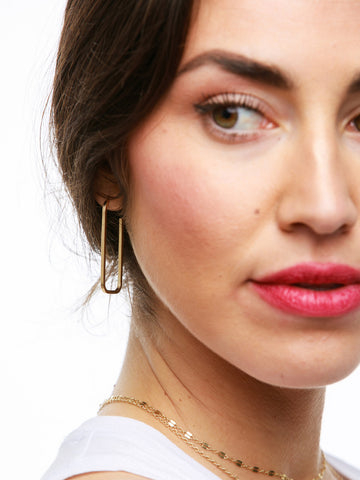 Bali Hoop Earrings In Gold Tone