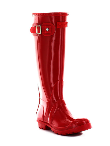British Girl Rain Boot In Red