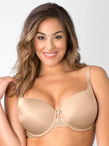 Lace Shine T-Shirt Bra In Bombshell Nude