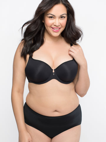 Tulip Smooth Push Up Bra In Black