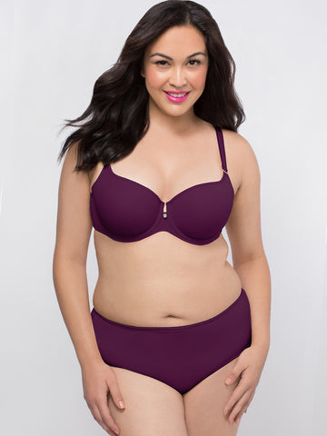 Tulip Smooth Push Up Bra In Aubergine