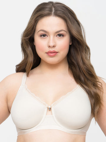 Cotton Luxe Unlined Underwire Bra In Natural