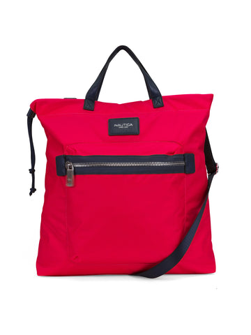 Convertible Tote In Red