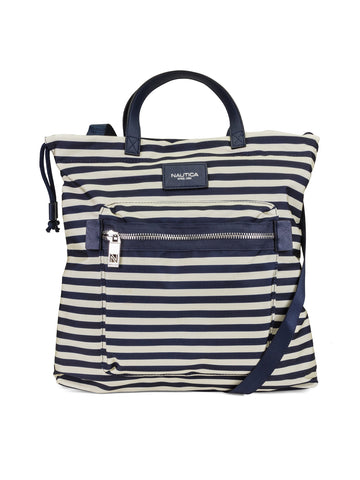 Convertible Tote In Indigo Bone