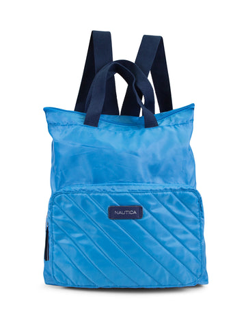 New Tack Quilt Backpack In Bright Blue