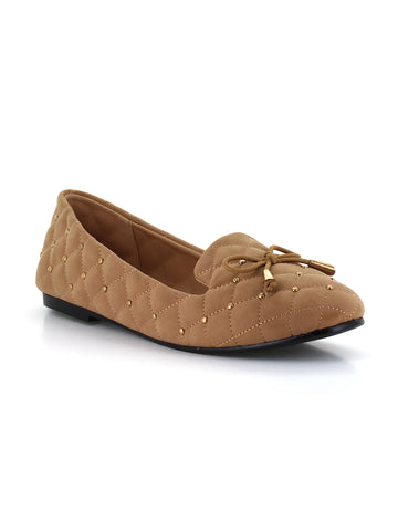 Chloe Smoker Flat In Camel