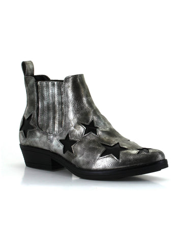 Rock Star Bootie In Pewter