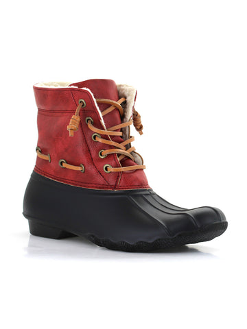 Deanston Duck Boot In Claret