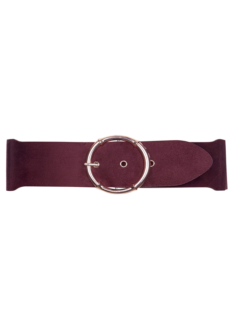 Sueded Hoop Belt In Ox Blood