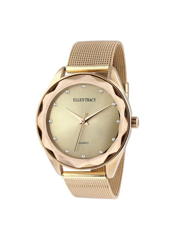 Gold Tone Mesh Watch