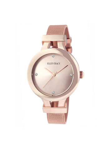 Rose Gold Tone Mesh Watch