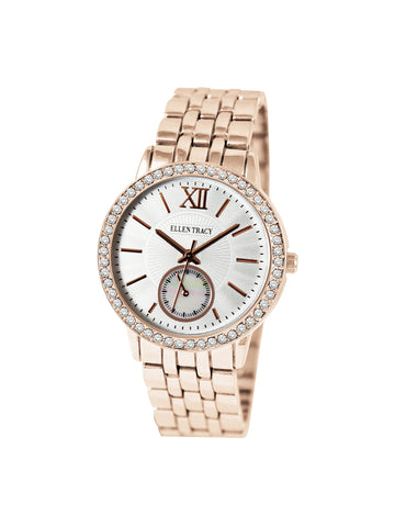 Mop Dial Rose Gold Tone Bracelet Watch