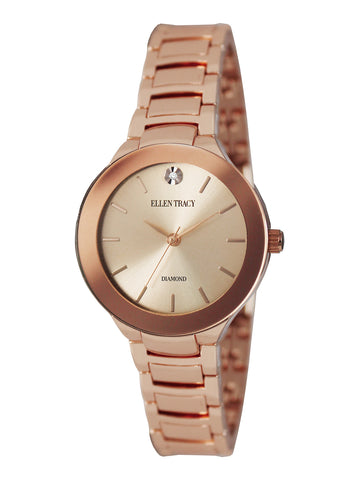 Rose Gold-Tone Bracelet Watch