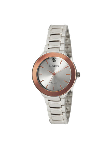 Two Tone Crystal Dial Watch