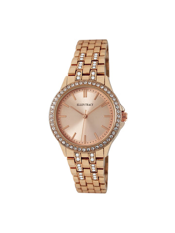 Stone Dial Rose Gold Tone Bracelet Watch