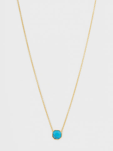 Power Gemstone Charm Turquoise Adjustable Necklace