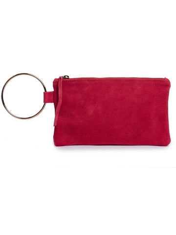 Fozi Wristlet In Deep Raspberry