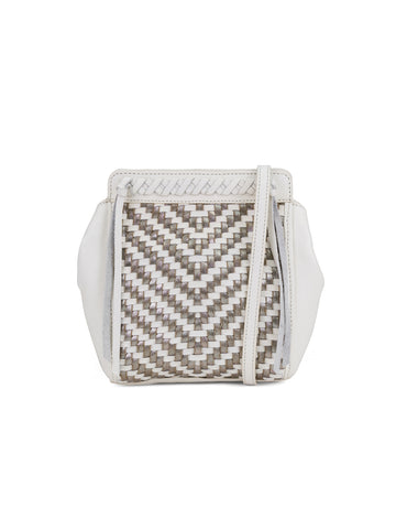 Aisha Crossbody In Blanco And Metallic