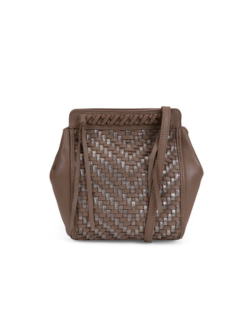 Aisha Crossbody In Cigar And Metallic