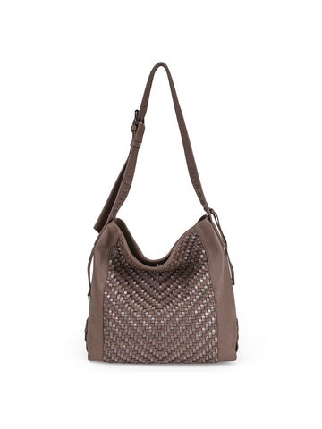 Aisha Shoulder Bag In Cigar And Metallic