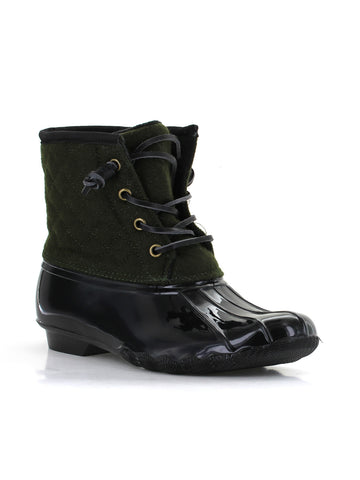 Goose Wool Duck Boot In Olive