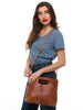 Hana Handbag In Chestnut