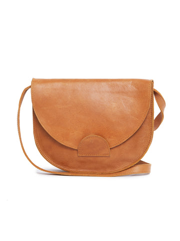 Hana Saddlebag In Cognac