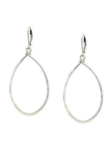 Hanna Hammered Hoop Earrings