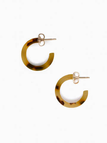 Iris Hoop Earrings In Auburn Tortise