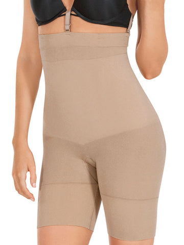 Seamless High Waist Boxer Shaper In Nude