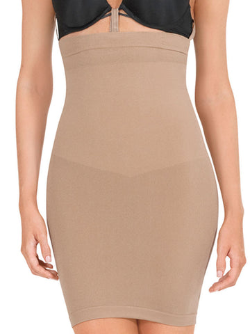 Seamless High Waist Slip Shaper In Nude